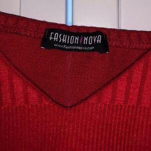 Fashion Nova Tops - Fashion Nova Red Cropped Top!